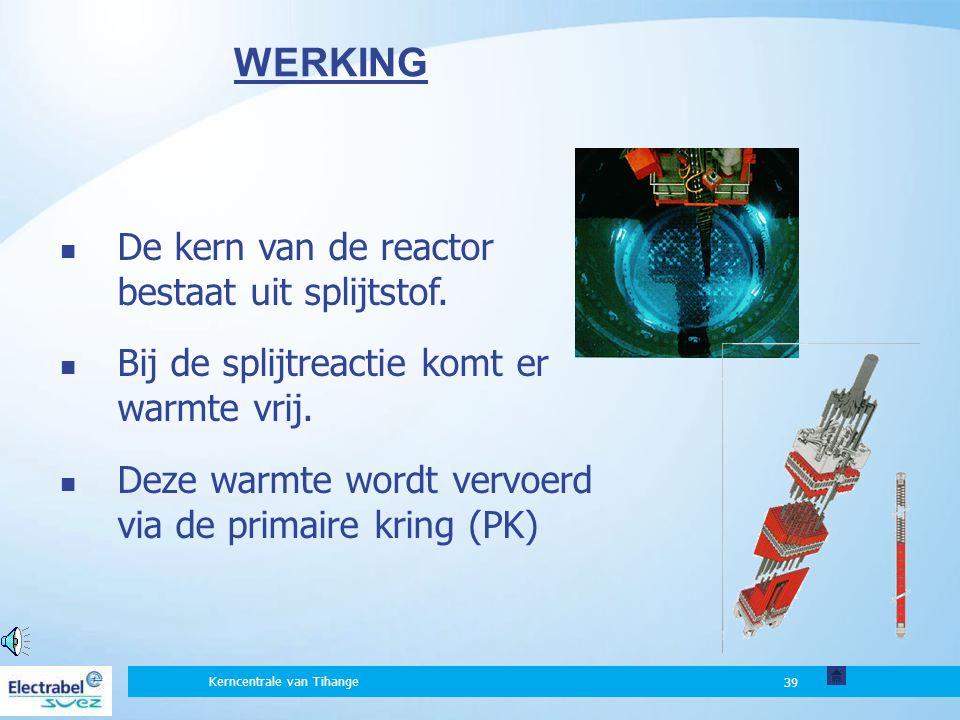 WERKING De kern van de reactor bestaat uit splijtstof.