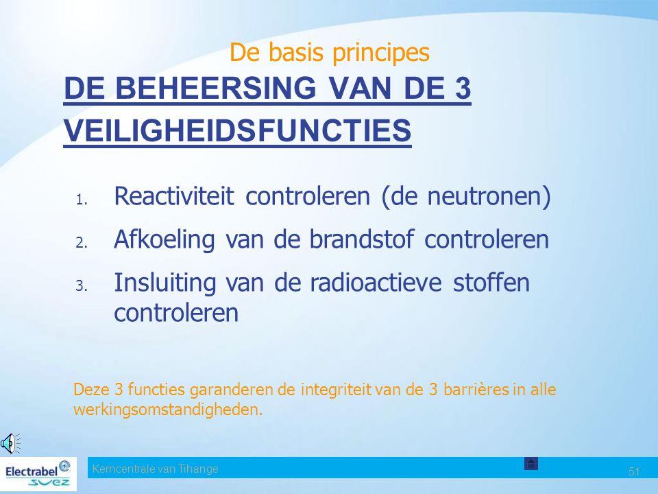 DE BEHEERSING VAN DE 3 VEILIGHEIDSFUNCTIES