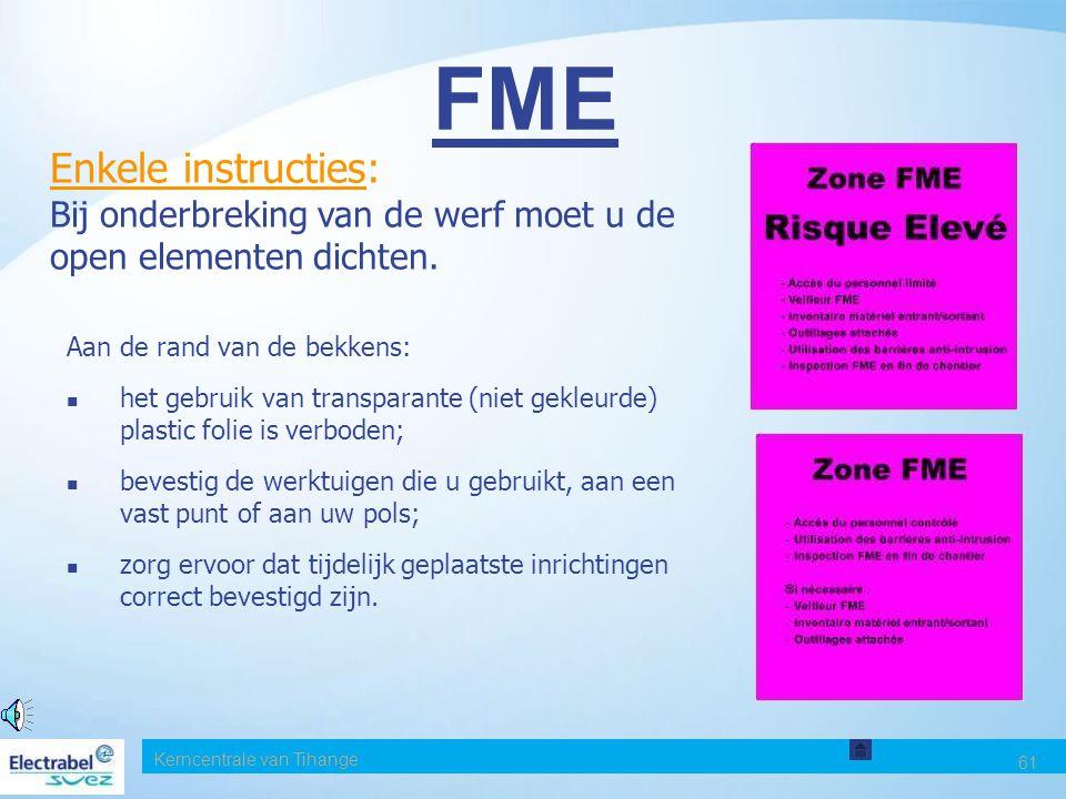 FME Enkele instructies: