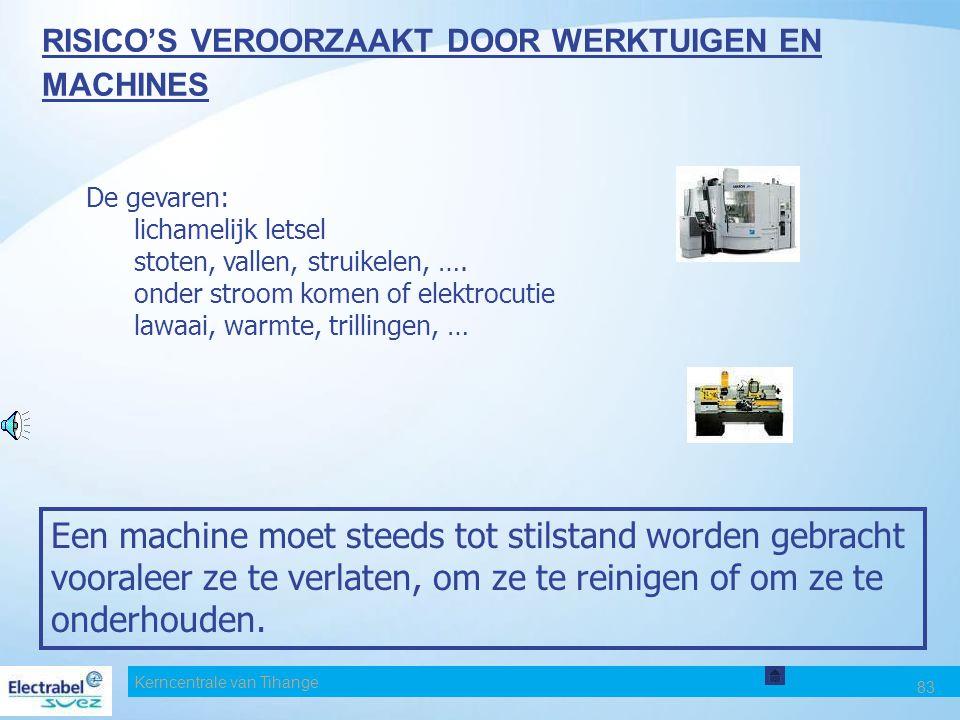RISICO'S VEROORZAAKT DOOR WERKTUIGEN EN MACHINES