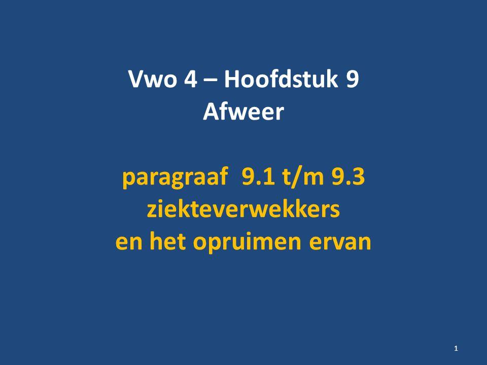 Vwo 4 – Hoofdstuk 9 Afweer paragraaf 9. 1 t/m 9