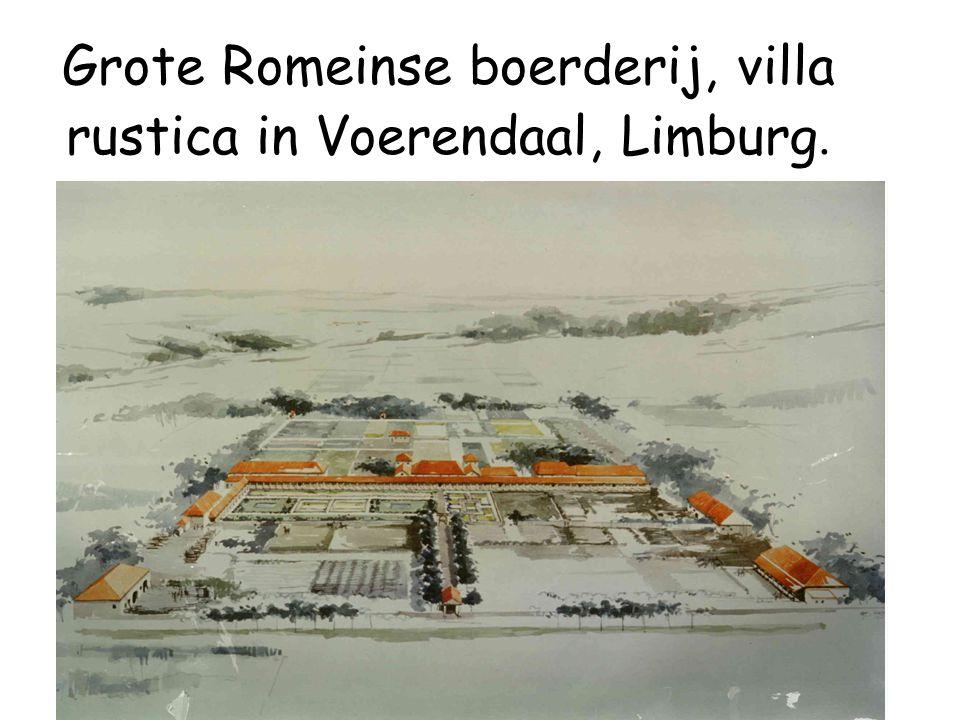 Grote Romeinse boerderij, villa rustica in Voerendaal, Limburg.