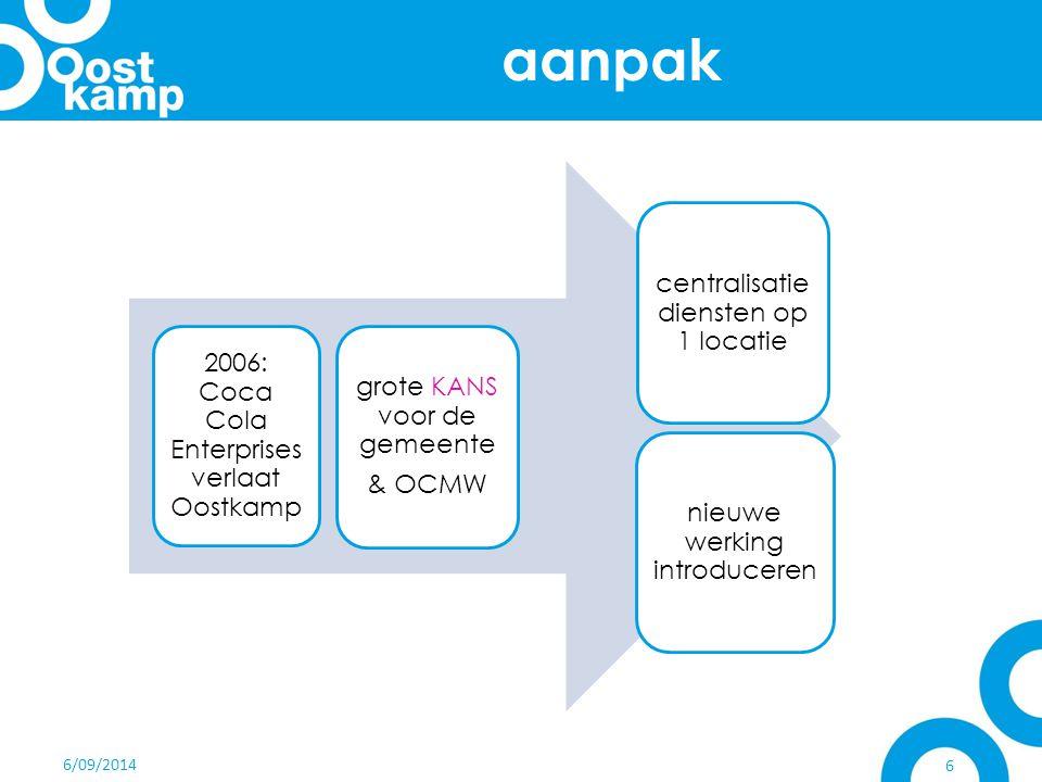 aanpak centralisatie diensten op 1 locatie