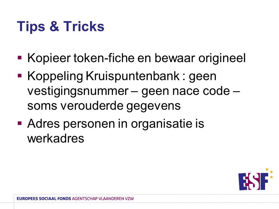 Tips & Tricks Kopieer token-fiche en bewaar origineel