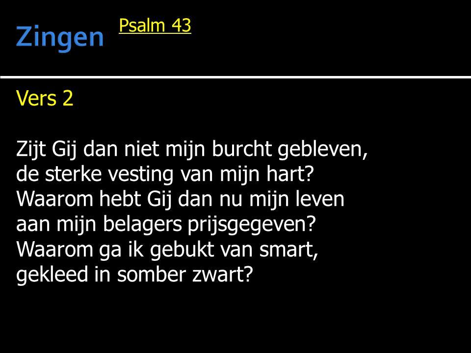 Zingen Vers 2 Zijt Gij dan niet mijn burcht gebleven,