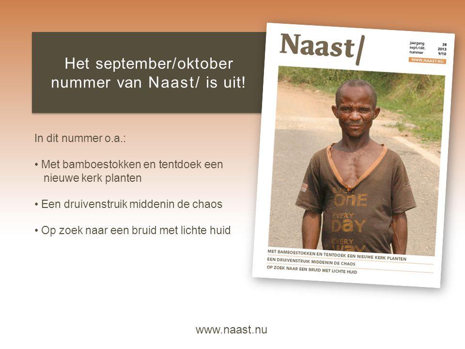 Het september/oktober nummer van Naast/ is uit!