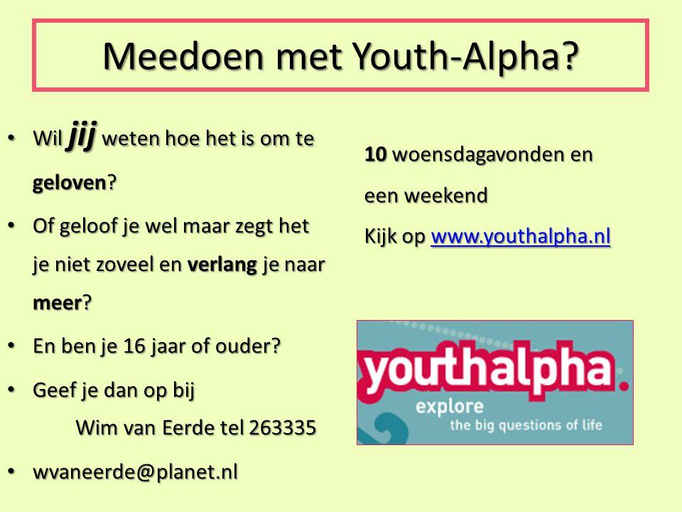 Meedoen met Youth-Alpha