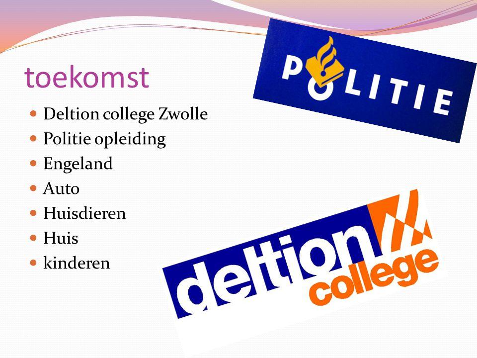 toekomst Deltion college Zwolle Politie opleiding Engeland Auto