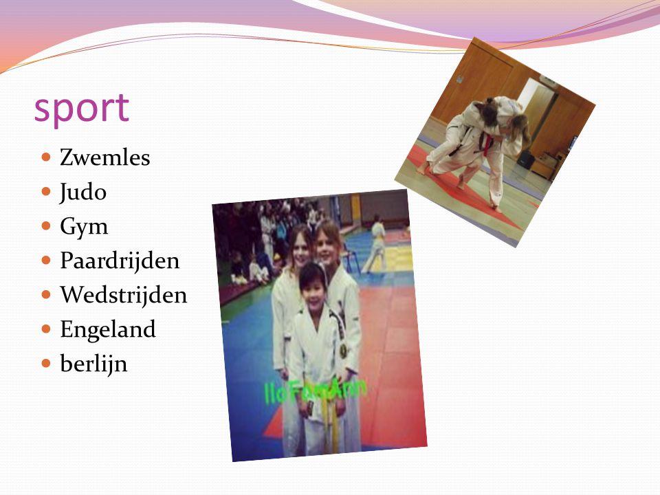 sport Zwemles Judo Gym Paardrijden Wedstrijden Engeland berlijn