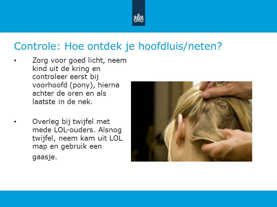Controle: Hoe ontdek je hoofdluis/neten