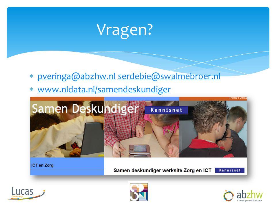 Vragen pveringa@abzhw.nl serdebie@swalmebroer.nl
