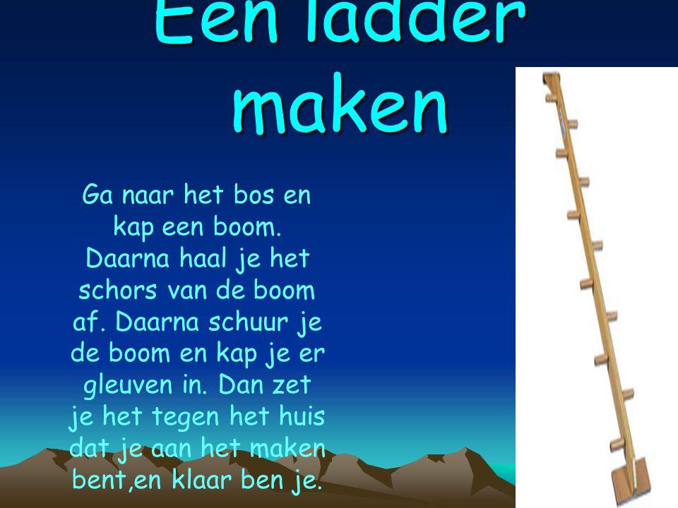 Een ladder maken