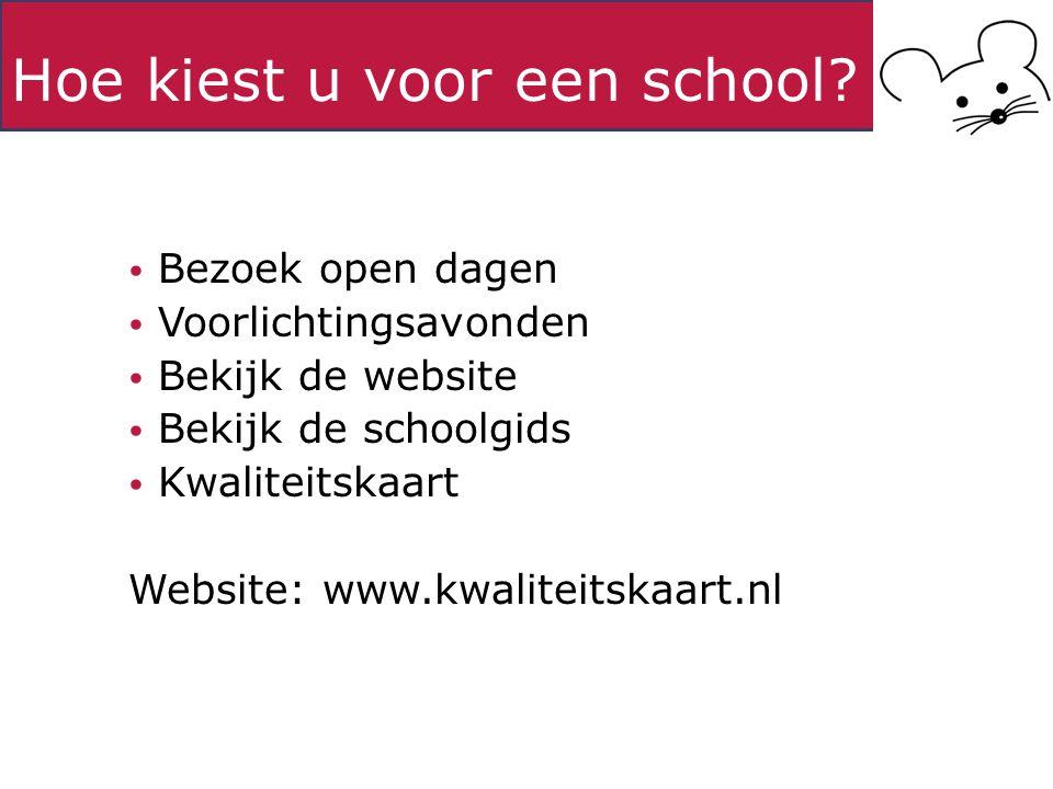 Hoe kiest u voor een school