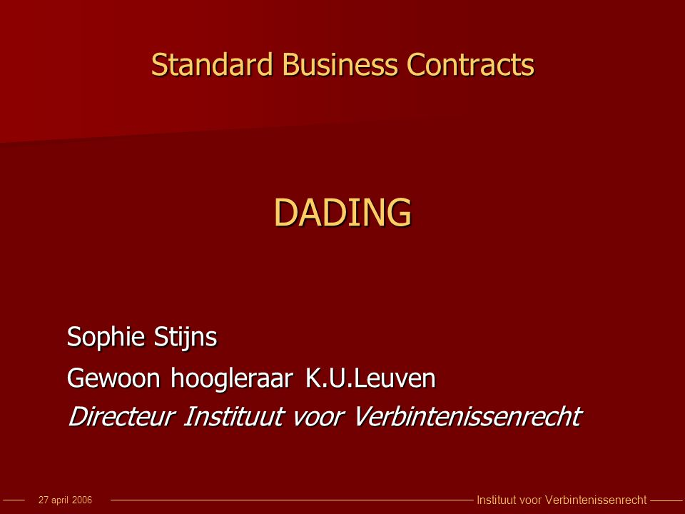 Standard Business Contracts
