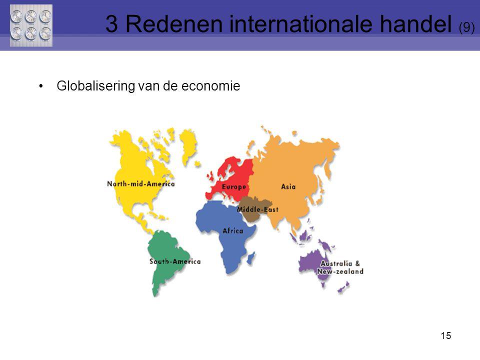 3 Redenen internationale handel (9)