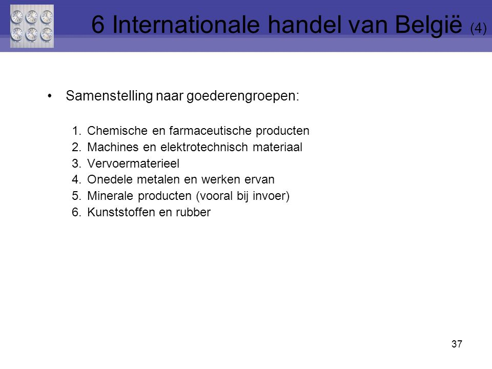 6 Internationale handel van België (4)