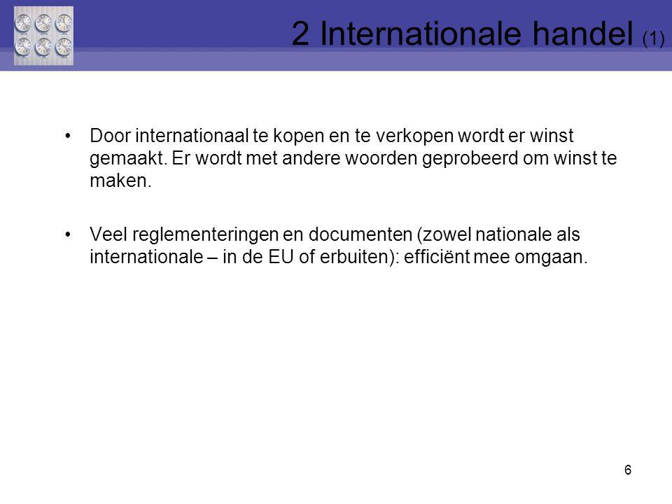 2 Internationale handel (1)