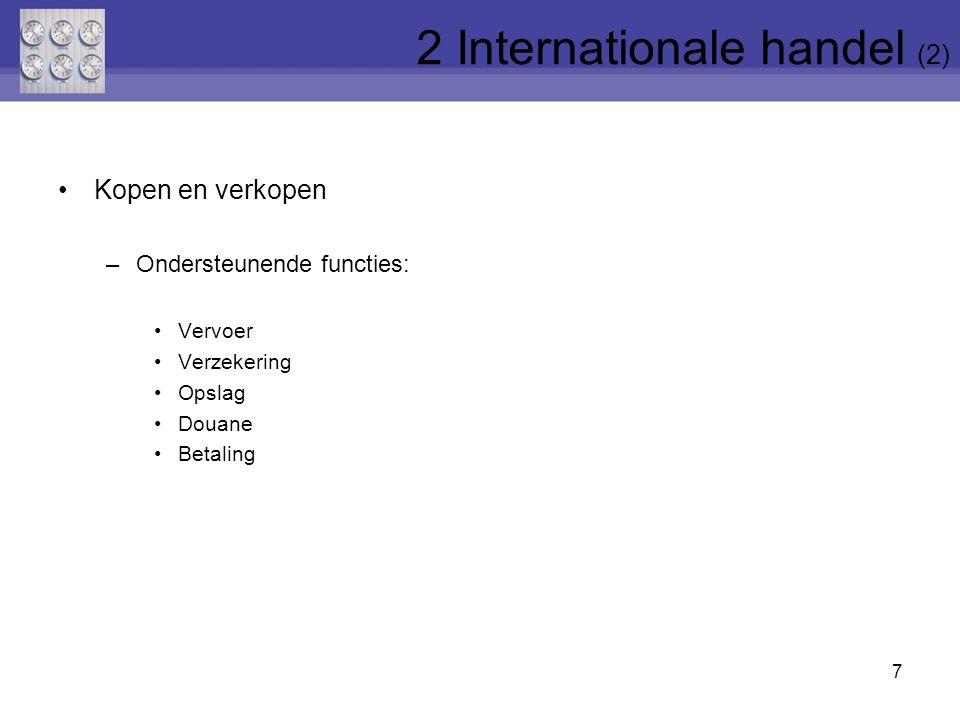 2 Internationale handel (2)