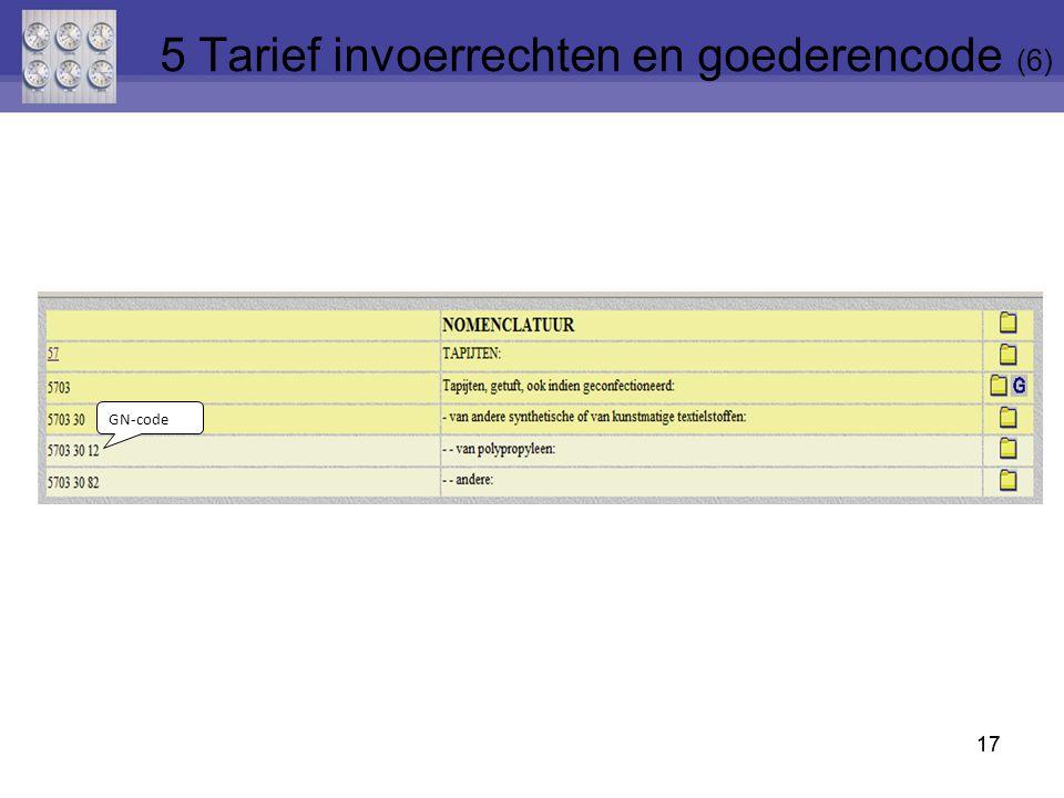 5 Tarief invoerrechten en goederencode (6)