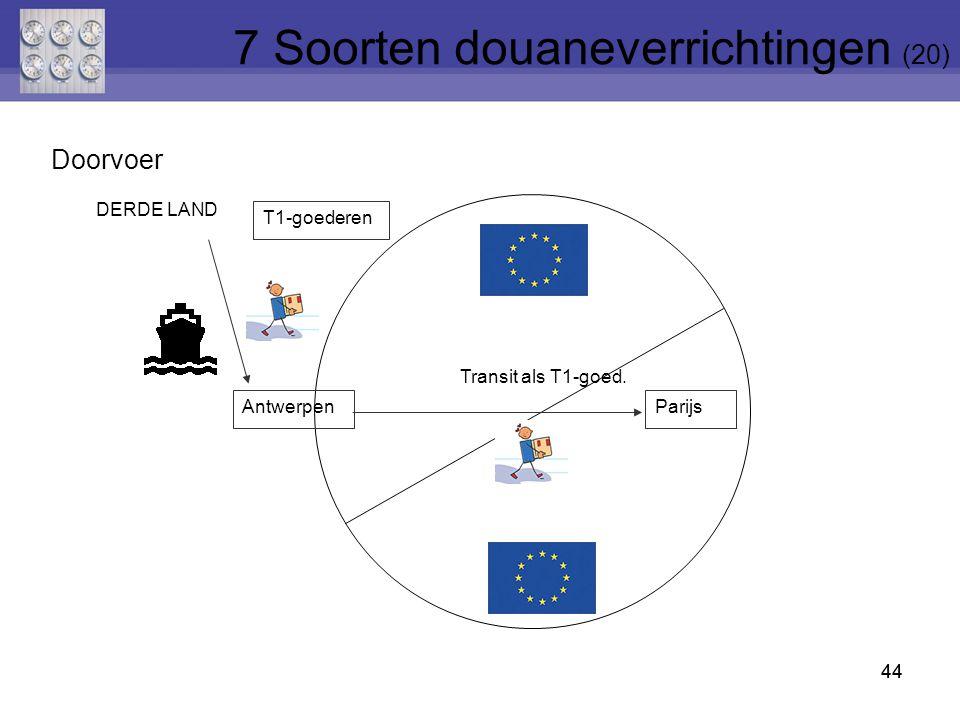 7 Soorten douaneverrichtingen (20)