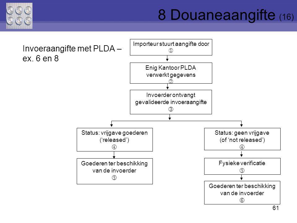 8 Douaneaangifte (16) Invoeraangifte met PLDA – ex. 6 en 8      