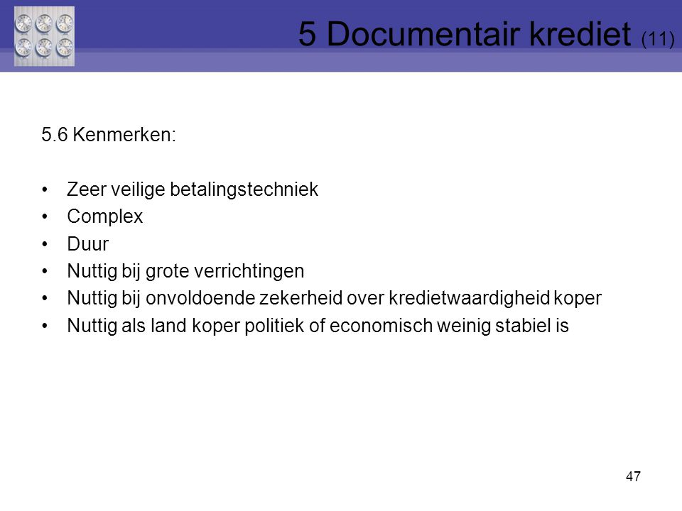 5 Documentair krediet (11)