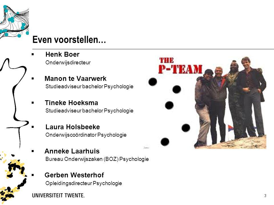 Even voorstellen… Henk Boer Manon te Vaarwerk Tineke Hoeksma