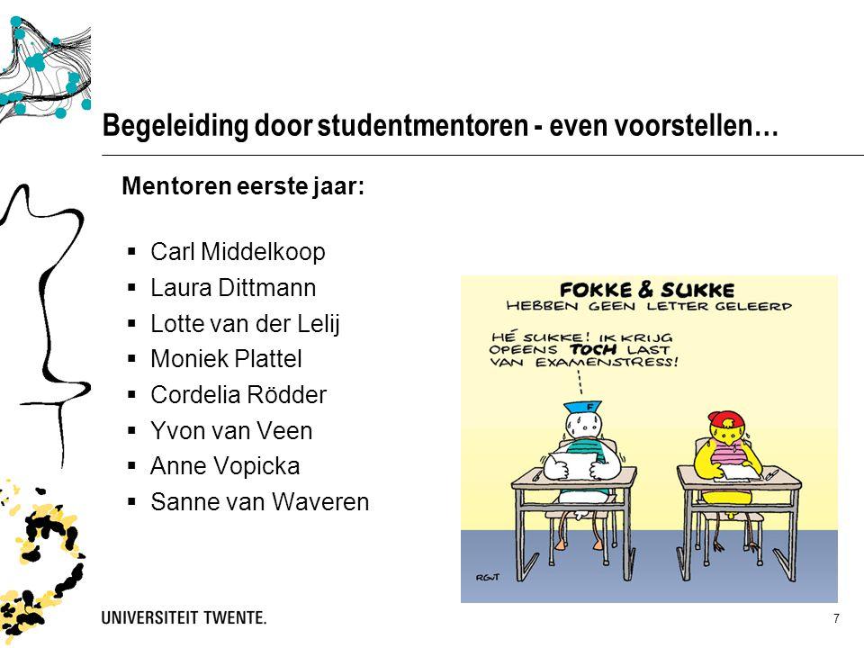 Begeleiding door studentmentoren - even voorstellen…