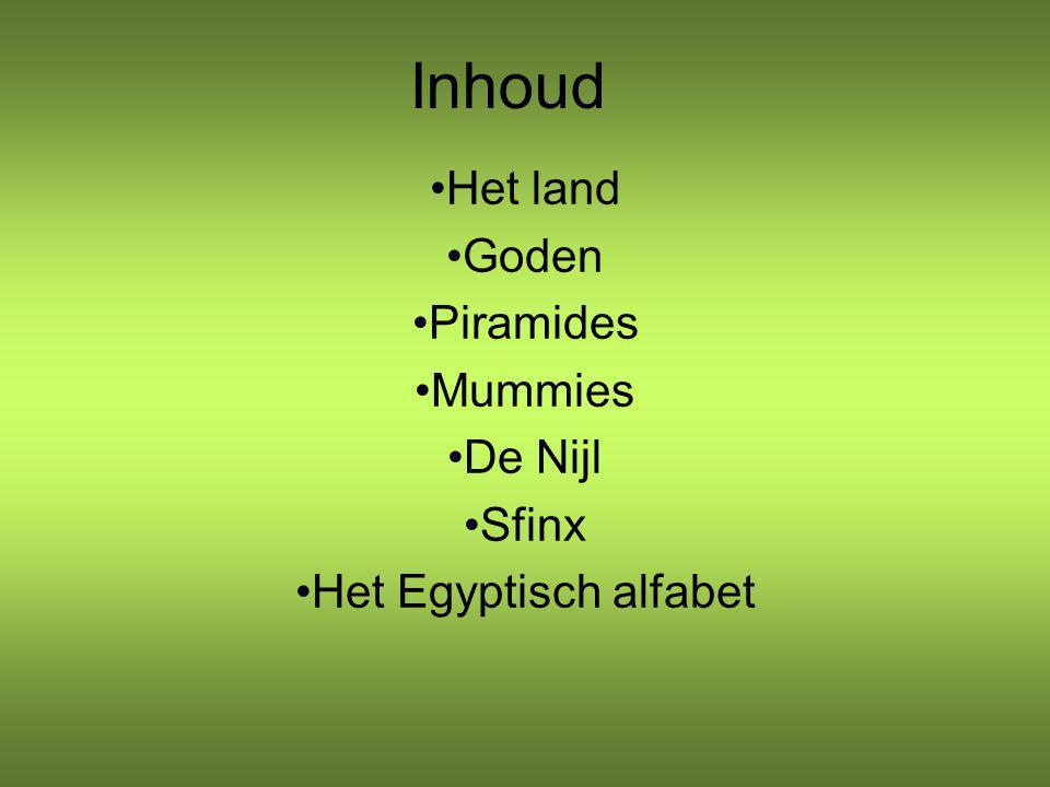 Het land Goden Piramides Mummies De Nijl Sfinx Het Egyptisch alfabet