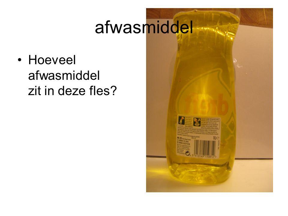 afwasmiddel Hoeveel afwasmiddel zit in deze fles