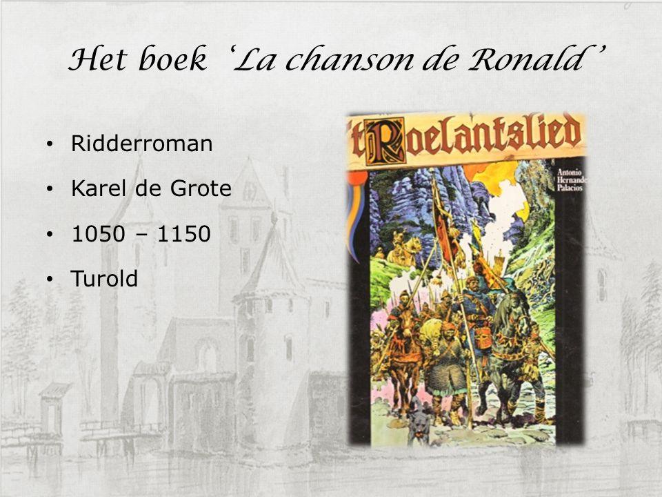 Het boek 'La chanson de Ronald '