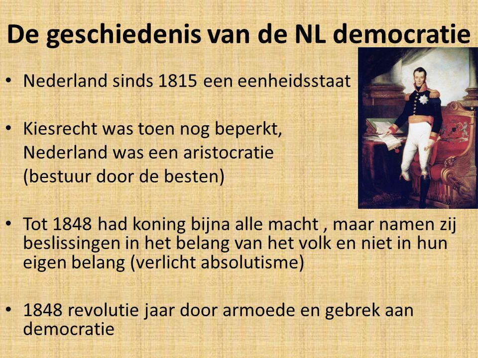 De geschiedenis van de NL democratie