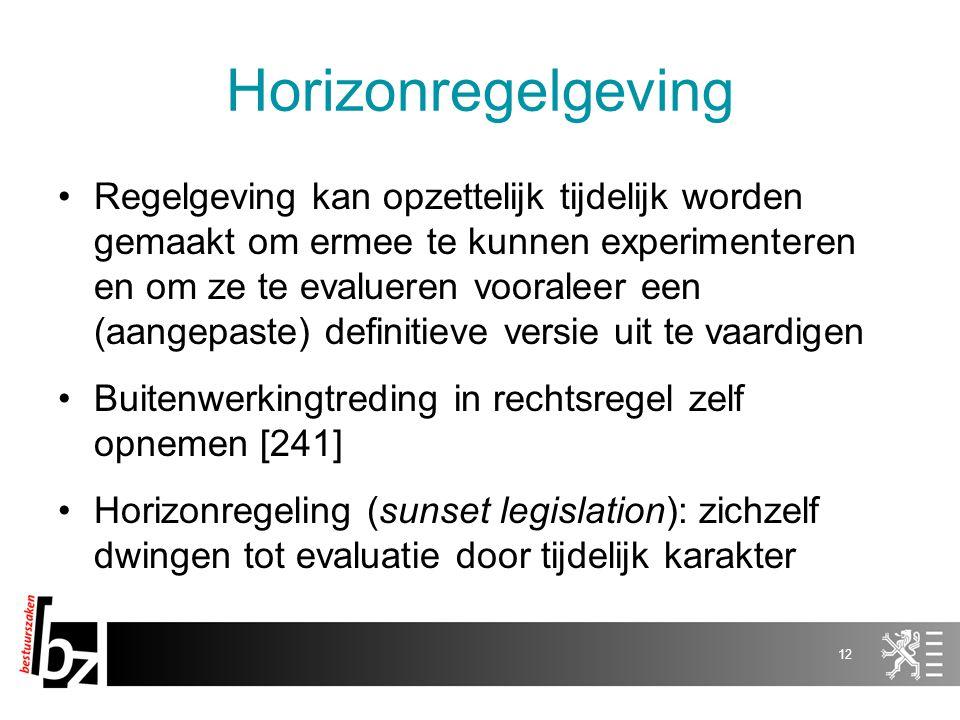 Horizonregelgeving
