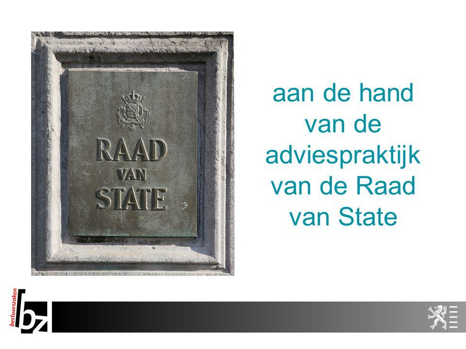 aan de hand van de adviespraktijk van de Raad van State