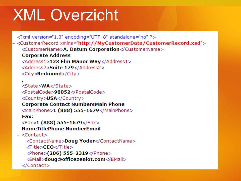 XML Overzicht
