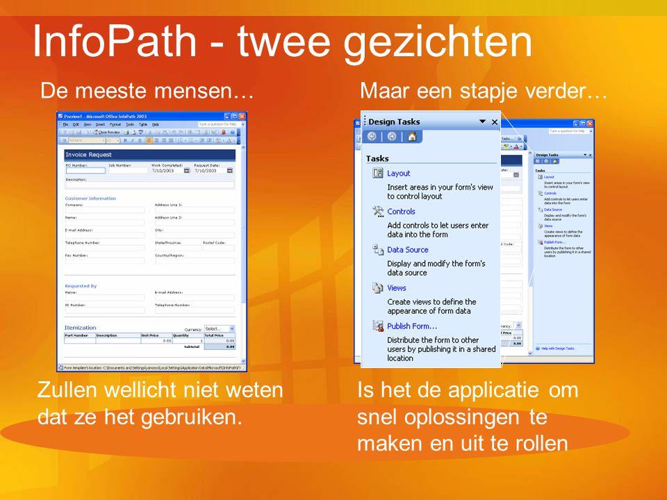 InfoPath - twee gezichten