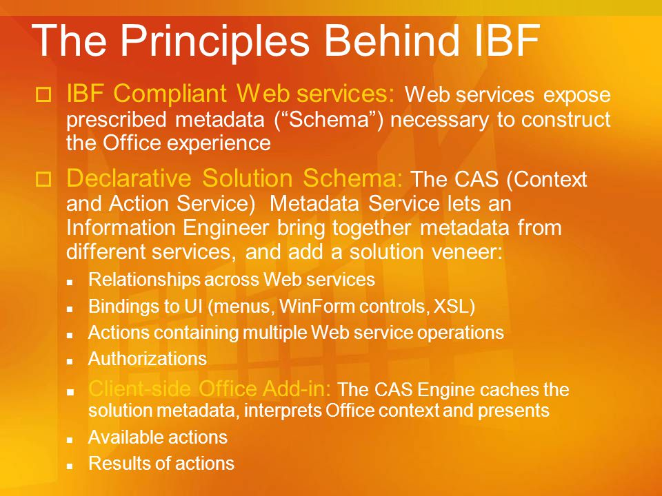 The Principles Behind IBF