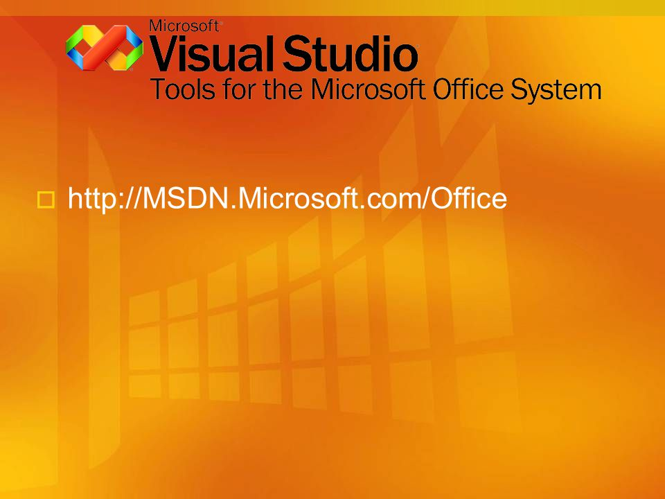 http://MSDN.Microsoft.com/Office