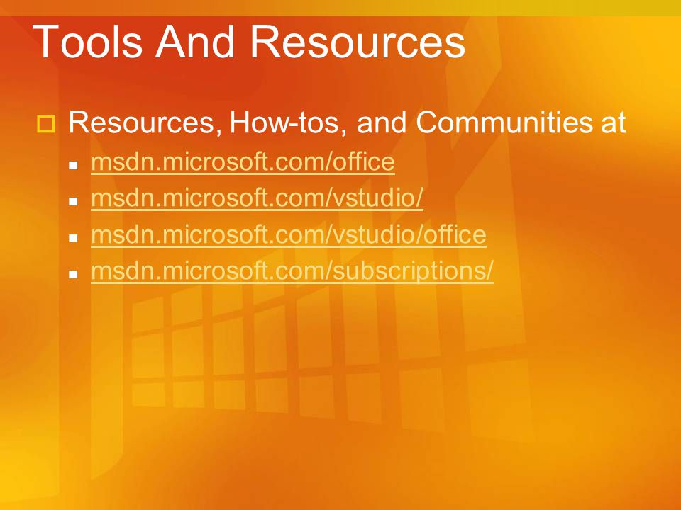 Tools And Resources Resources, How-tos, and Communities at