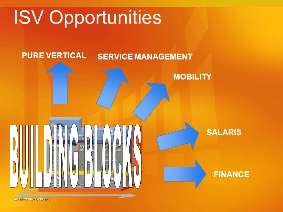 ISV Opportunities BUILDING BLOCKS PURE VERTICAL SERVICE MANAGEMENT