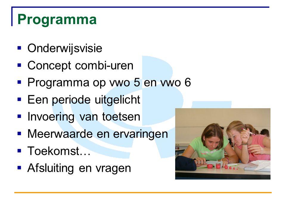 Programma Onderwijsvisie Concept combi-uren
