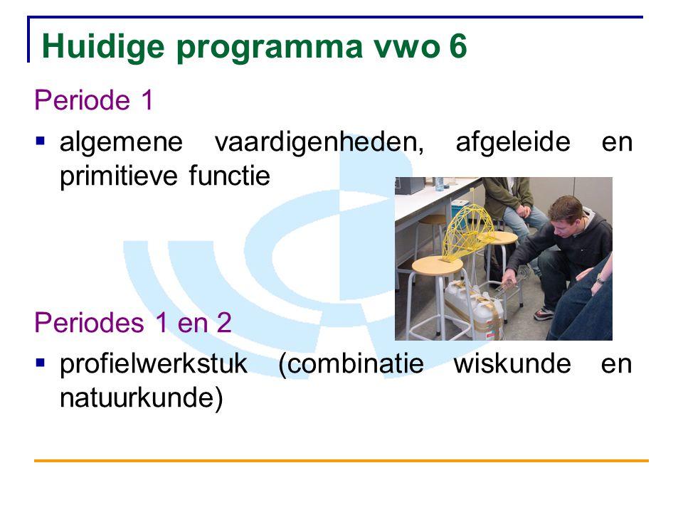 Huidige programma vwo 6 Periode 1
