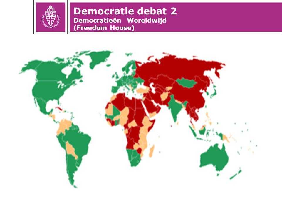 Democratie debat 2 Democratieën Wereldwijd (Freedom House)