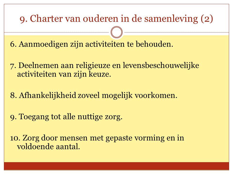 9. Charter van ouderen in de samenleving (2)