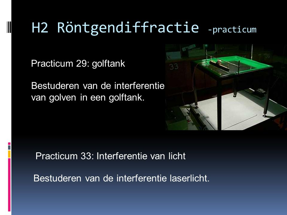 H2 Röntgendiffractie -practicum