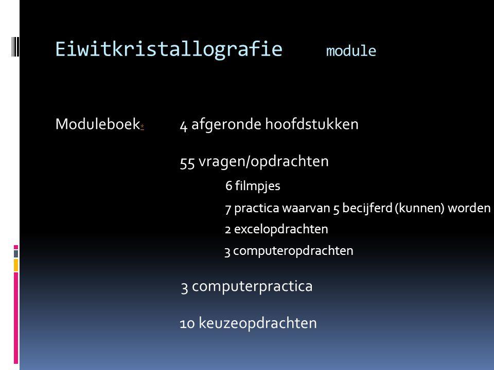 Eiwitkristallografie module