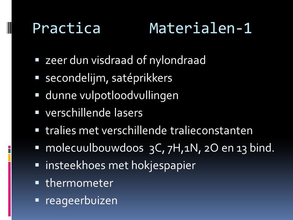 Practica Materialen-1 zeer dun visdraad of nylondraad