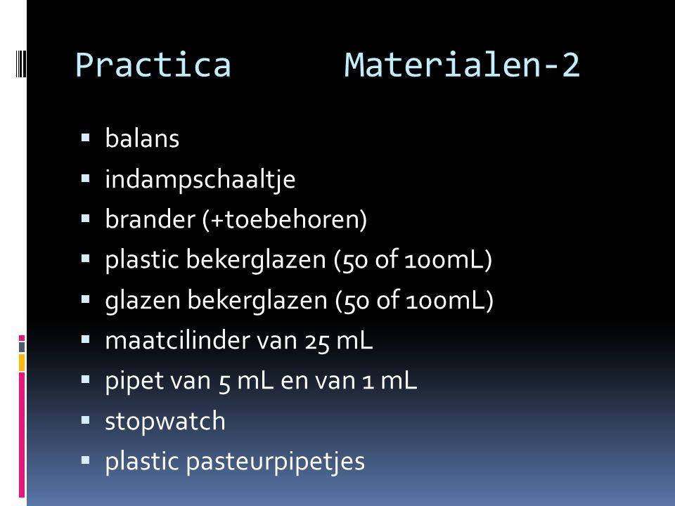 Practica Materialen-2 balans indampschaaltje brander (+toebehoren)