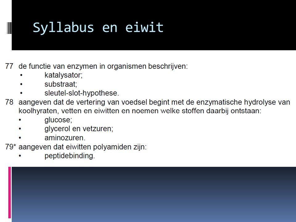 Syllabus en eiwit