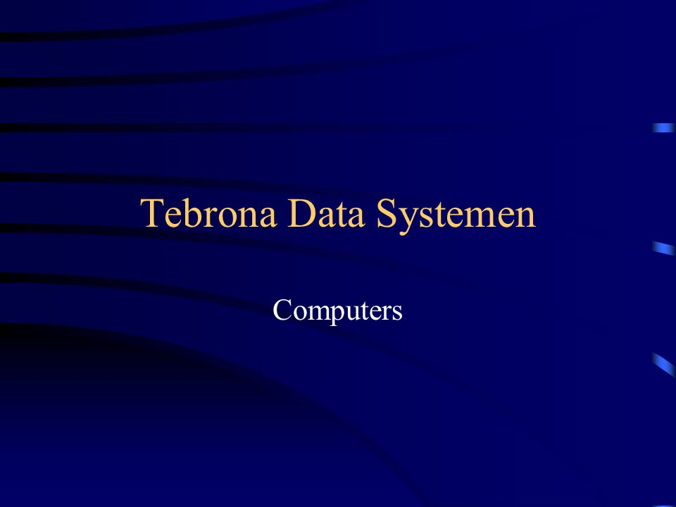 Tebrona Data Systemen Computers